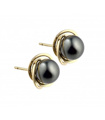 BOUCLE D'OREILLE TAHITI RONDE 7/8 MM OR 0,91 GR