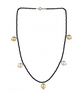 COLLIER SPINEL PERLE GOLD 5P