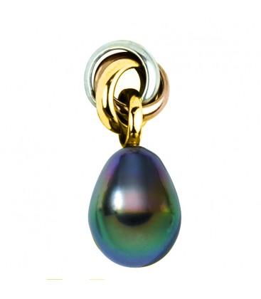 Pendentif or 18 cts + perle de tahiti poire