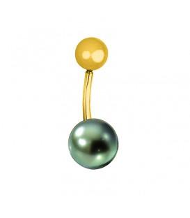Piercing or 18 cts + perle de tahiti ronde