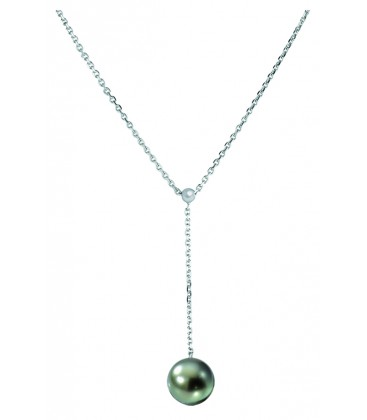 Collier or 18 cts + 1perle de tahiti ronde