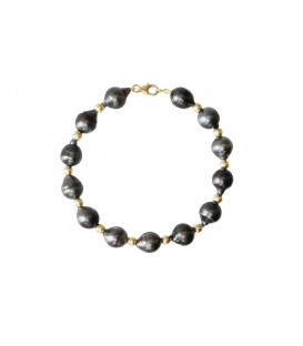 BRACELET CERCLEE BOULE OR