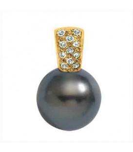 Pendentif or 18 cts + perle de tahiti ronde